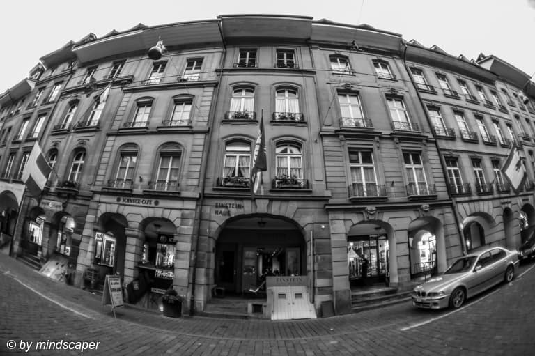 Einsteinhaus in B&W - Berne Fisheye